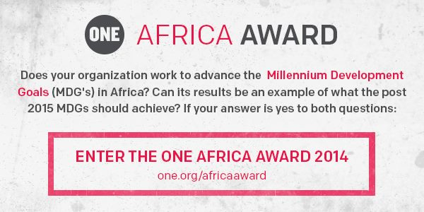 Twitter ONE Africa Award MDGs