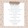 Poetry: Blank sheet